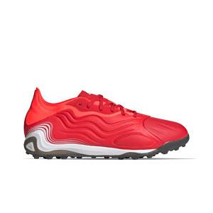adidas Copa SENSE.1 TF - Zapatillas de fútbol multitaco de piel adidas suela turf - rojas