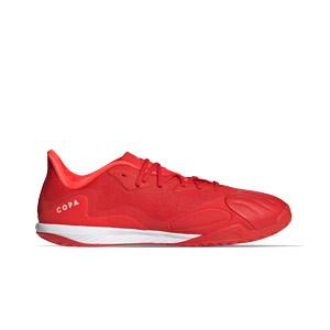 adidas Copa SENSE.1 IN Sala - Zapatillas de fútbol sala de piel adidas suela lisa IN - rojas