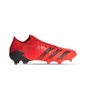 adidas Predator FREAK .1 Low FG - Botas de fútbol adidas FG para césped natural o artificial de última generación - rojas
