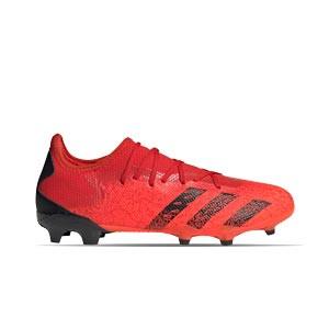 adidas Predator FREAK .3 Low FG - Botas de fútbol adidas FG para césped natural o artificial de última generación - rojas