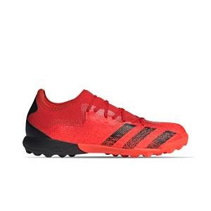 adidas Predator FREAK .3 Low TF - Zapatillas de fútbol multitaco adidas TF suela turf - rojas