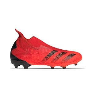 adidas Predator FREAK .3 LL FG - Botas de fútbol adidas con tobillera sin cordones FG para césped natural o artificial de última generación - rojas