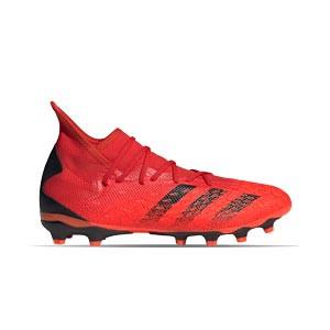 adidas Predator FREAK .3 MG - Botas de fútbol con tobillera adidas MG para césped artificial - rojas