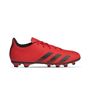 adidas Predator FREAK .4 FxG - Botas de fútbol adidas FxG para múltiples terrenos - rojas