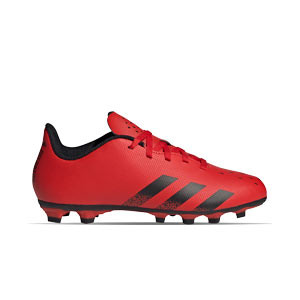 adidas Predator FREAK .4 FxG J - Botas de fútbol infantiles adidas FxG para múltiples terrenos - rojas