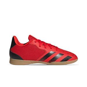 adidas Predator FREAK .4 IN Sala J - Zapatillas de fútbol sala infantiles adidas suela lisa IN - rojas