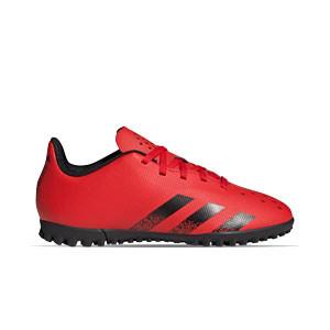 adidas Predator FREAK .4 TF J - Zapatillas de fútbol multitaco infantiles adidas suela turf - rojas