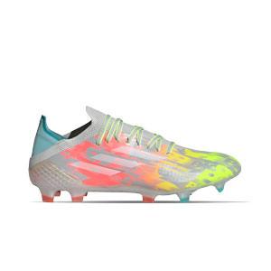 adidas X SPEEDFLOW.1 FG - Botas de fútbol adidas FG para césped natural o artificial de última generación - grises, rosas