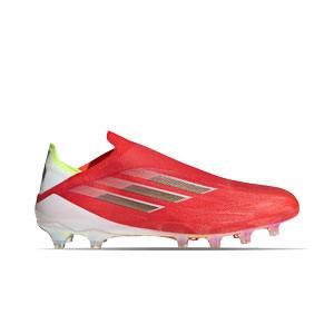 adidas X SPEEDFLOW+ AG - Botas de fútbol sin cordones adidas FG para césped artificial - rojas