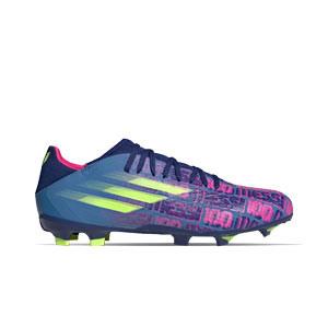 adidas X SPEEDFLOW Messi.3 FG - Botas de fútbol adidas FG para césped natural o artificial de última generación - azul marino, rosas