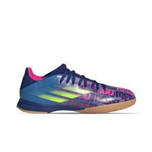 adidas X SPEEDFLOW Messi.3 IN J - Zapatillas de fútbol sala infantiles adidas suela lisa IN - azul marino, rosas