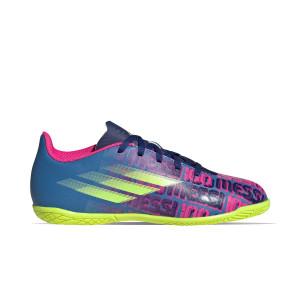 adidas X SPEEDFLOW Messi.4 IN J - Zapatillas de fútbol sala infantiles adidas suela lisa IN - azul marino, rosas