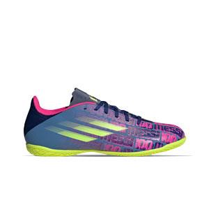 adidas X SPEEDFLOW Messi.4 IN - Zapatillas de fútbol sala adidas suela lisa IN - azul marino, rosas