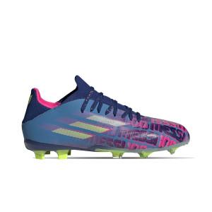 adidas X SPEEDFLOW Messi.1 FG J - Botas de fútbol infantiles adidas FG para césped natural o artificial de última generación - azul marino, rosas