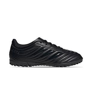 adidas Copa 20.4 TF - Zapatillas de fútbol multitaco adidas suela turf - negras - derecho
