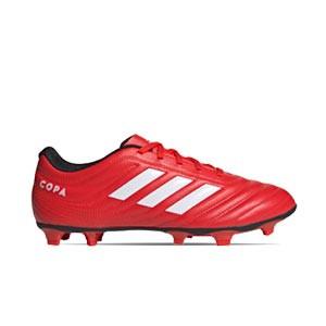 adidas Copa 20.4 FG - Botas de fútbol adidas FG para césped natural o artificial de última generación - rojas y negras - derecho