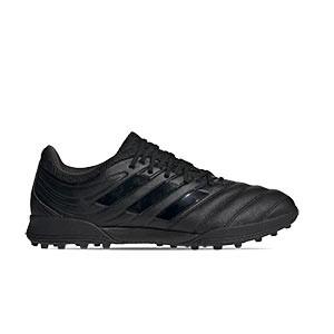 adidas Copa 20.3 TF - Zapatillas de fútbol multitaco de piel adidas suela turf - negras - derecho