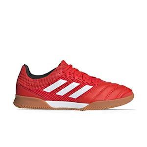 adidas Copa 20.3 IN Sala - Zapatillas de fútbol sala de piel adidas suela lisa IN - rojas - derechoo