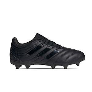adidas Copa 20.3 FG - Botas de fútbol de piel adidas FG para césped natural o artificial de última generación - negras - miniatura