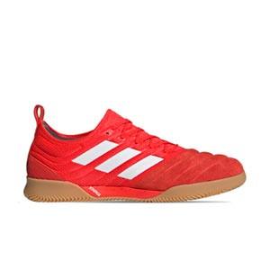 adidas Copa 20.1 IN - Zapatillas de fútbol sala de piel de canguro adidas suela lisa IN - rojas - derecho