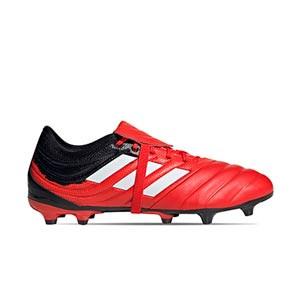 adidas Copa Gloro 20.2 FG - Botas de fútbol de piel adidas FG para césped natural o artificial de última generación - rojas y negras - derecho