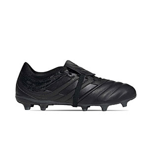 adidas Copa Gloro 20.2 FG - Botas de fútbol de piel adidas FG para césped natural o artificial de última generación - negras - miniatura