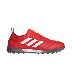 adidas Copa 20.1 TF - Zapatillas de fútbol multitaco de piel de canguro adidas suela turf - rojas - derecho