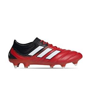 adidas Copa 20.1 SG - Botas de fútbol de piel de canguro adidas SG para césped natural blando - rojas y negras - derecho
