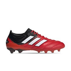 adidas Copa 20.1 AG - Botas de fútbol de piel de canguro adidas AG para césped artificial - rojas y negras - derecho