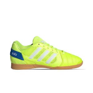 adidas Super Sala J - Zapatillas de fútbol sala para niño adidas suela lisa - amarillas flúor - frontal