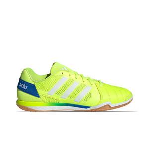 adidas Top Sala - Zapatillas de fútbol sala adidas suela lisa - amarillas flúor - pie derecho