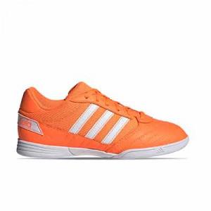 adidas Super Sala J - Zapatillas de fútbol sala para niño adidas suela lisa - naranjas - pie derecho