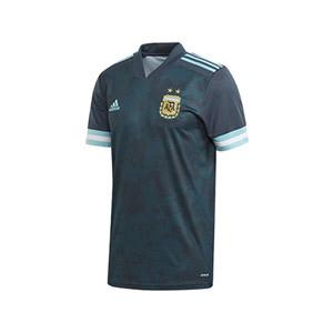 Camiseta adidas 2a Argentina niño 2020 - Camiseta infantil segunda equipación selección Argentina 2020 - azul verdoso - frontal