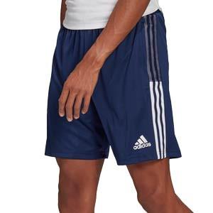 Short adidas Tiro 21 - Pantalón corto de fútbol adidas - azul marino