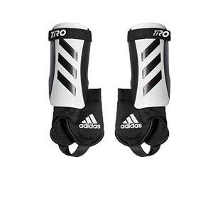 adidas Tiro Match J - Espinilleras de fútbol infantiles adidas con tobillera protectora - blancas