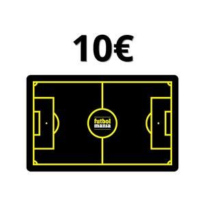 Tarjeta Regalo 10 euros futbolmania - Tarjeta Regalo de 10 euros en futbolmania - frontal