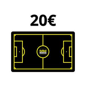 Tarjeta Regalo 20 euros futbolmania