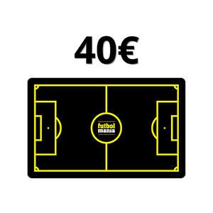 Tarjeta Regalo 40 euros futbolmania