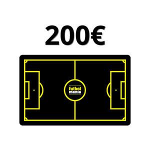 Tarjeta Regalo 200 euros futbolmania
