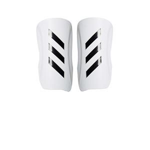 adidas Tiro Club - Espinilleras de fútbol adidas con cintas de velcro - blancas