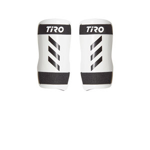 adidas Tiro Training - Espinilleras de fútbol adidas con cintas de velcro - blancas - frontal