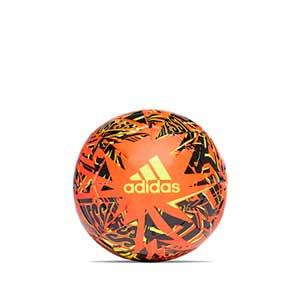 Balón adidas Messi Club talla 3 - Balón de fútbol adidas de la colección de Messi en talla 3 - naranja y negro - frontal