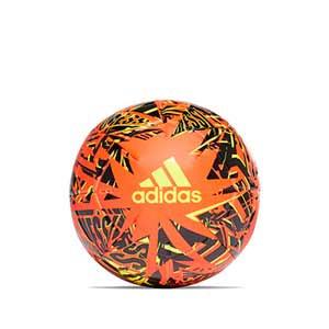 Balón adidas Messi Club talla 4 - Balón de fútbol adidas de la colección de Messi en talla 4 - naranja y negro - frontal