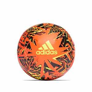 Balón adidas Messi Club talla 5 - Balón de fútbol adidas de la colección de Messi en talla 5 - naranja y negro - frontal