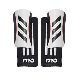 Espinilleras adidas Tiro League - Espinilleras de fútbol adidas con mallas de sujeción - blancas