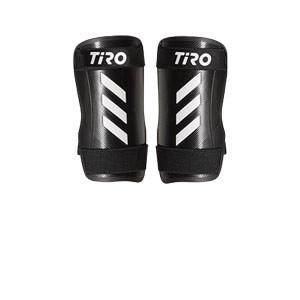 adidas Tiro Training - Espinilleras de fútbol adidas con cintas de velcro - negras - frontal