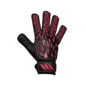 adidas Predator Training - Guantes de portero adidas corte positivo - negros y rosas - frontal