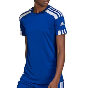 Camiseta adidas Squad 21 mujer - Camiseta de manga corta de mujer adidas - azul