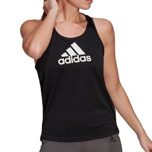Camiseta tirantes adidas Big logo mujer - Camiseta sin mangas de mujer adidas negra | futbolmania