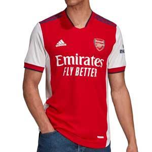 Camiseta adidas Arsenal 2021 2022 authentic - Camiseta primera equipación adidas authentic Arsenal FC 2021 2022 - roja y blanca